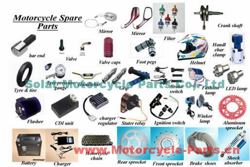 China Motorcycle Aluminum Sprockets, Rear Sprockets,Front Sprockets,Motorcycle Chains,Motorcycle Handlebar,Motorcycle Handle Grips,Hot Grips, Atv Heated Grips, Handlebar Clamps,Handlebar Ends, Brake (Clutch) Lever, Handle Switch, Shock Absorber, Motorcycle Fuel Filter,Oil Filter,Custom Air Filter,Tire,ATV Tyre,Tire Valve,Crankshaft,Belt,Speaker,Lock,Motorcycle Bear,Foot Pegs,Foot Rest,Rear View Mirrors,Motorcycle Muffler,Wind Protect Screen,Motorcycle Parts Supplier - Solat Motorcycle Parts Co,. Ltd